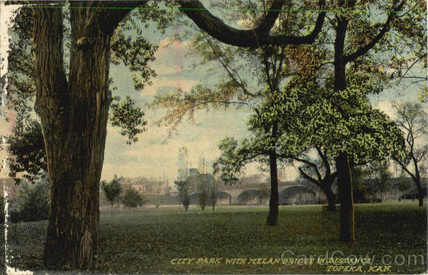 City Park with Melan Bridge in Distance Topeka Kansas