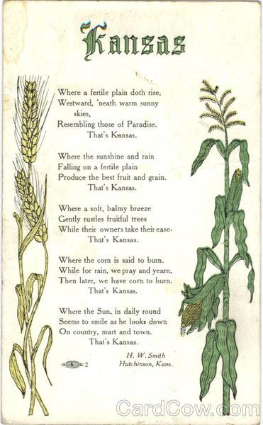 Kansas Poem Hutchinson KS