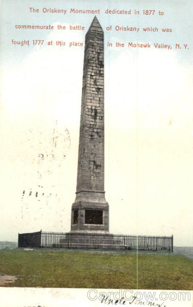 The Oriskany Monument Mohawk Valley New York