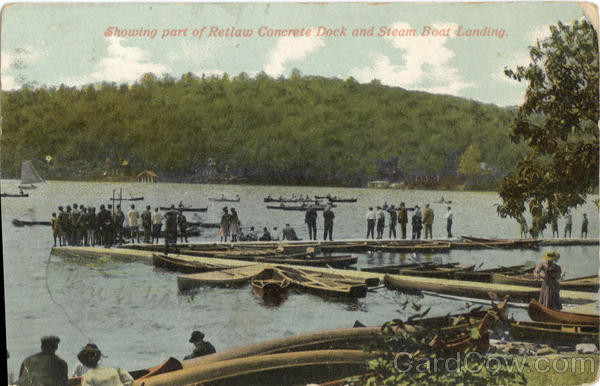 Showing Part of Retlaw Concrete Dock and Steam Boat Landing New York