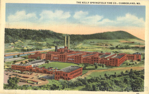 The Kelly Springfield Tire Co Cumberland Maryland
