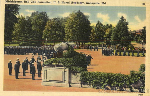 US Naval Academy Midshipman Roll Call Formation Annapolis Maryland