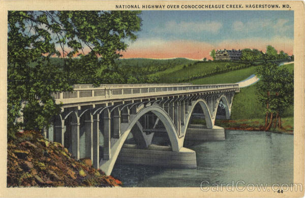 National Highway over Conococheaguecreek Hagerstown Maryland