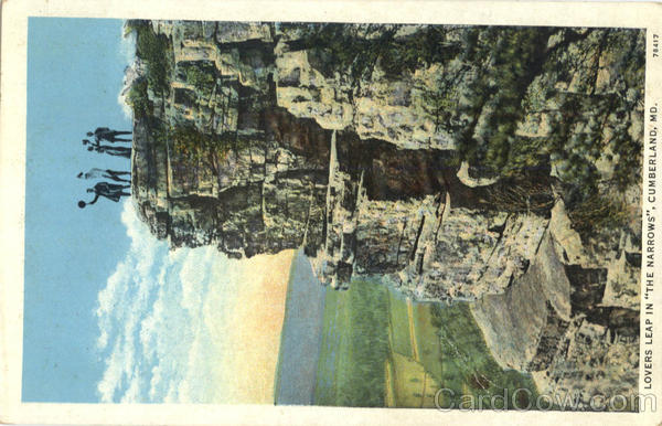 Lovers Leap in The Narrows Cumberland Maryland