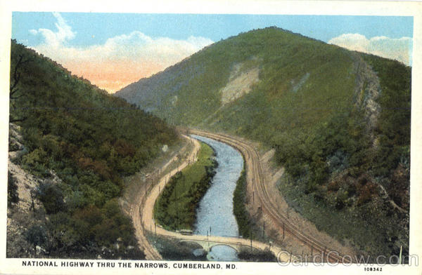 National Highway Thru The Narrows Cumberland Maryland