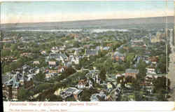 Panorama View of Residence and Business District Postcard