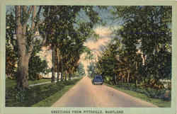 Greetings from Pittsville Postcard
