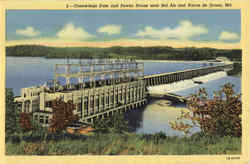 Conowingo Dam and Power House near Bel Air and Havre de Grace Postcard