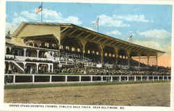 Grand Stand Showing Crowds, Pimlico Rack Track