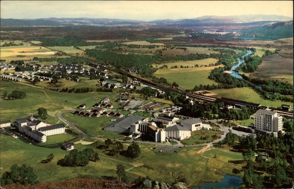 Aerial View of Aviemore Scotland