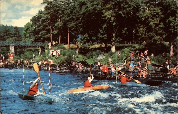 Canoeing on the River Tay, Perthshire, Scotland Grandtully United Kingdom