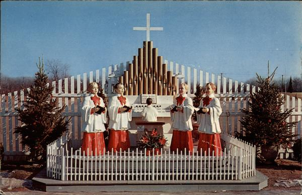 The Choir Boys - life size statues Attleboro Massachusetts