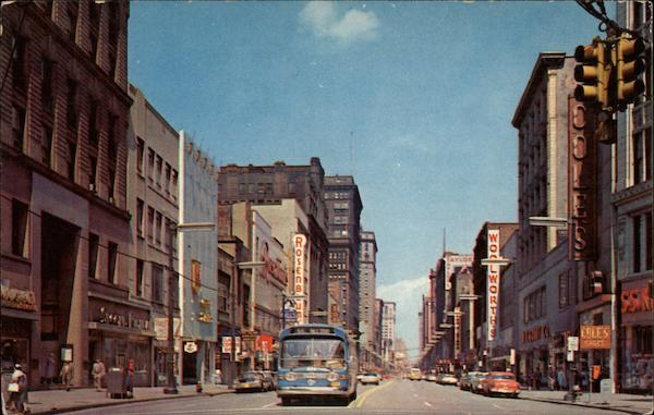euclid avenue looking east cleveland  oh