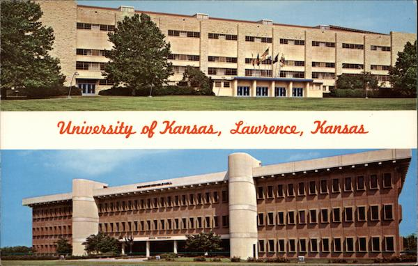 Allen Field House and Nicholas Hall Lawrence Kansas