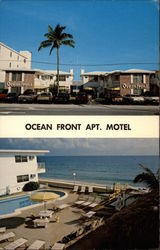 Ocean Front Apartment Motel Postcard