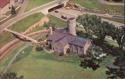 Aerial View of the Chapel Fort Snelling State Park Postcard