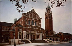 Holy Redeemer Church, Campanile, and Redemptorist Monastery Postcard