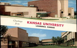 Music and Dramatic Arts Building, Kansas University Postcard