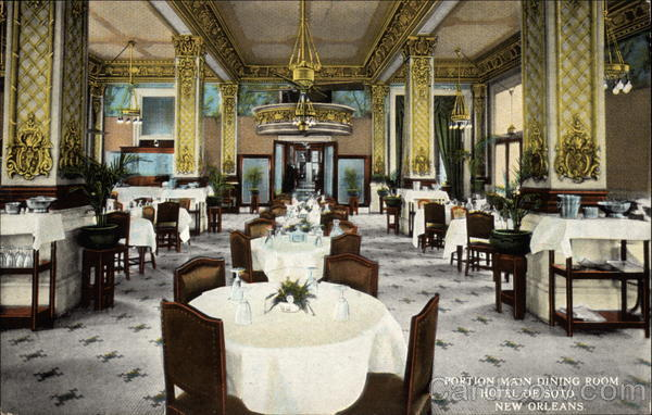 Portion Main Dining Room - Hotel De Soto New Orleans Louisiana
