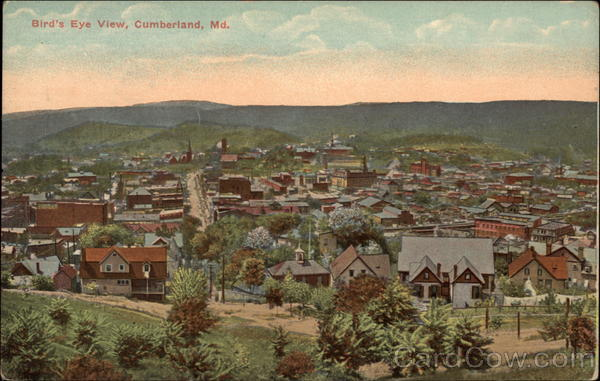 Bird's Eye View of City Cumberland Maryland