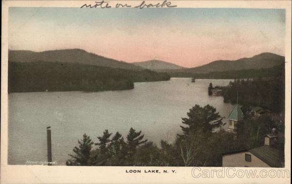 View of the Lake Loon Lake New York