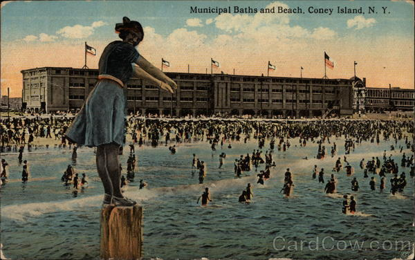 Municipal Baths and Beach Coney Island New York