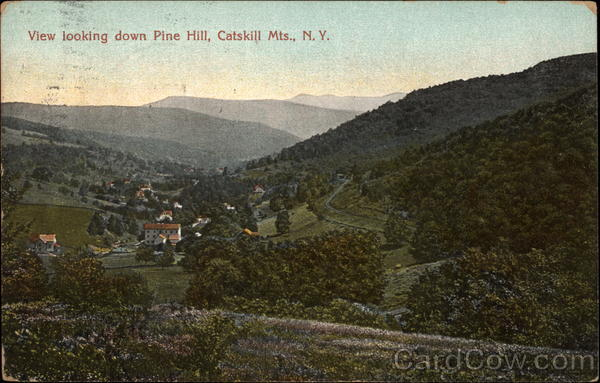 View Looking Down Pine Hill Catskills New York