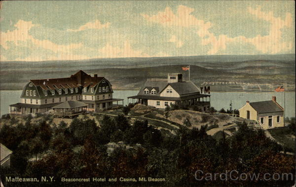 Beaconcrest Hotel and Casino, Mt. Beacon Old Postcard