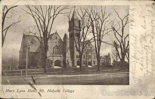 Mary Lyon Hall, Mt. Holyoke College South Hadley Massachusetts