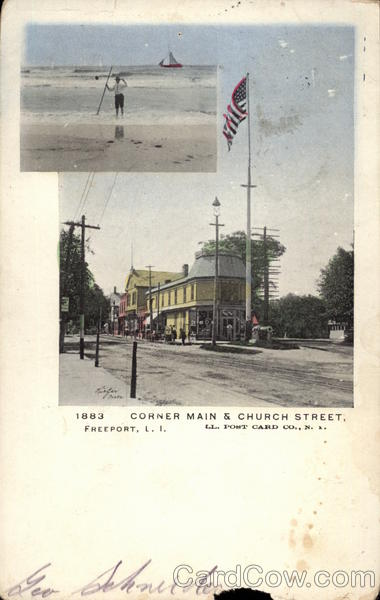 Corner Main & Church street Long Island New York