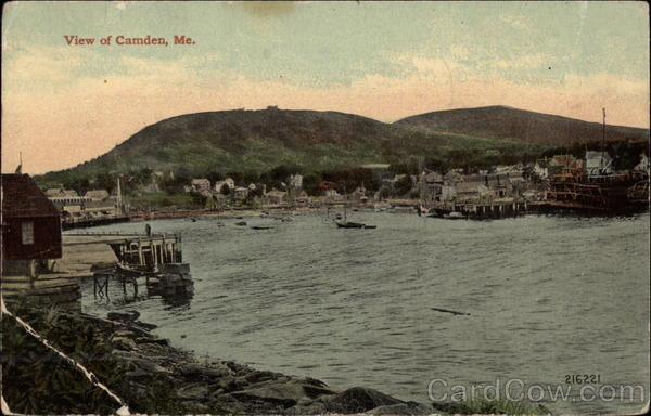 View of Town and River Camden Maine
