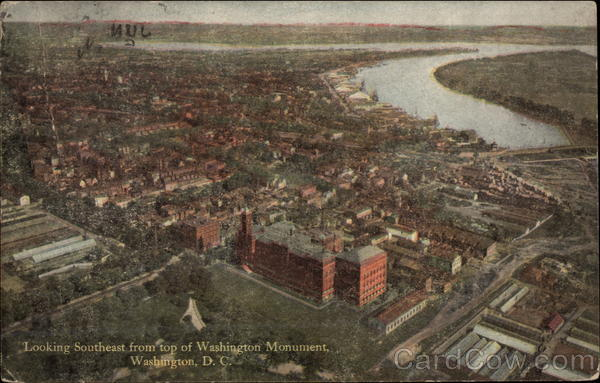 Aerial View Looking Southeast Washington District of Columbia