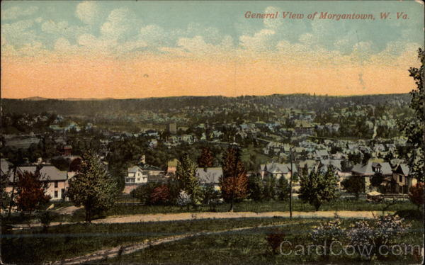 General View of City Morgantown West Virginia