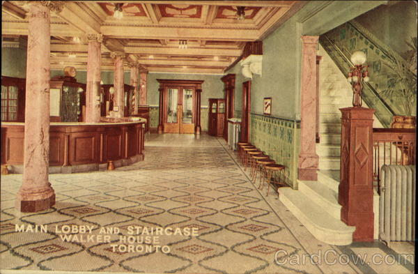 Walker House - Main Lobby and Staircase Toronto Canada