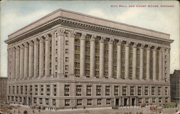 City Hall and Court House Chicago Illinois