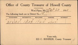 Office of County Treasurer of Howell County