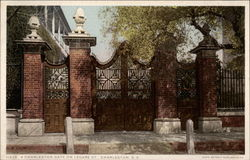 A Charleston Gate on Legare Street