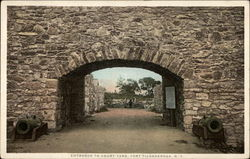 Entrance to Court Yard Postcard