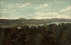 View of Lake Pleasant from Hill's Observatory Postcard