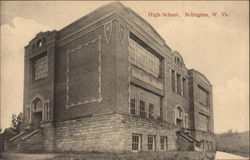 View of High School Postcard