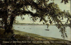 Merrimac River from Main Street, looking East
