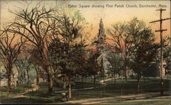 Eaton Square showing First Parish Church