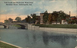 Fall Creek and Boulevard, West From Meridian Street