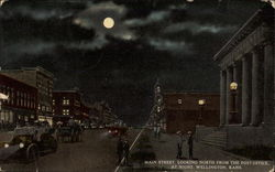 Main Street, Looking north from the Post Office at night