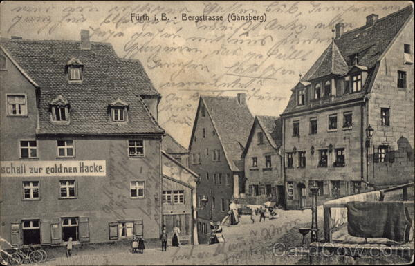 View of a Bergstrasse Furth Germany