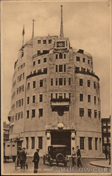 Broadcasting House - British Broadcasting Corporation - BBC London England UK