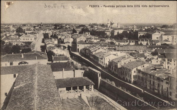 Panorama of the City Of Padua Italy