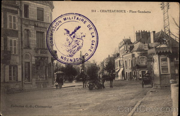Place Gambetta Chateauroux France