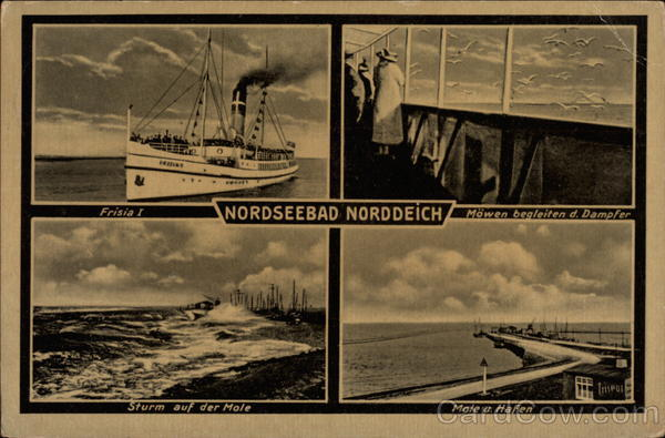 Various Views of Town Nordseebad Norddeich Germany