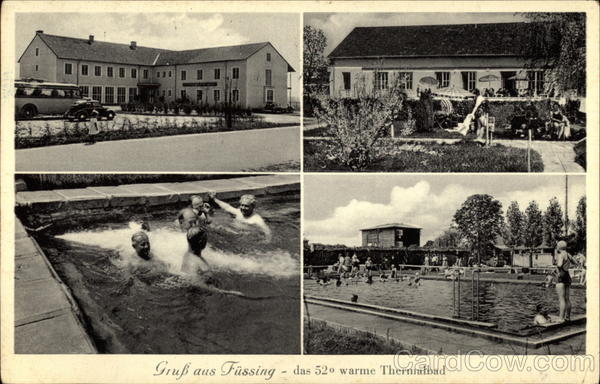 Gruss aus Fuessing - das 52 warme Thermalbad Germany